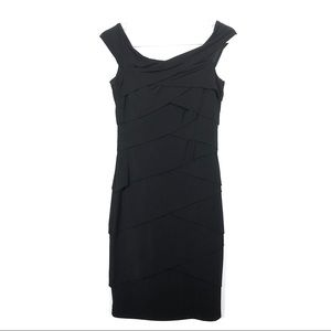 WHBM Dress Black Instantly Slimming Bodycon